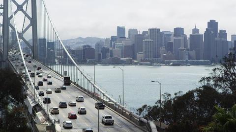 San Francisco - Oakland Bay Bridge Footage