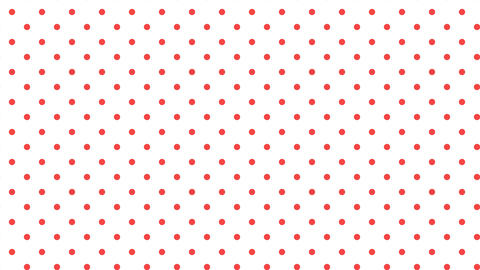 Dot pattern RED Bg WHT 10sec loop CG動画