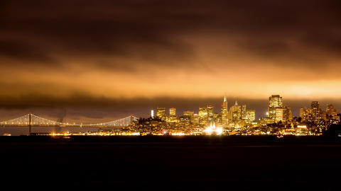 San Francisco's Nighttime Cityscape Footage