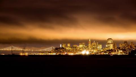 San Francisco's Nighttime Cityscape Footage