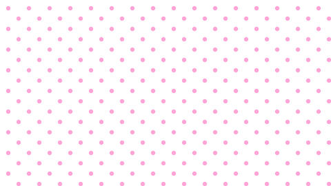 Dot pattern PNK Bg WHT 10sec loop CG動画