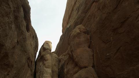 High walls of sandstone fins Live Action