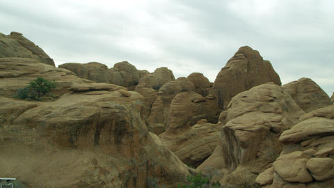View of the sandstone rock layers Footage