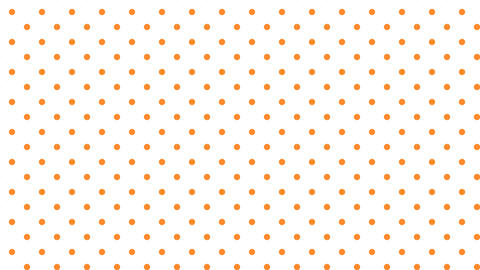 Dot pattern ORN Bg WHT 10sec loop CG動画