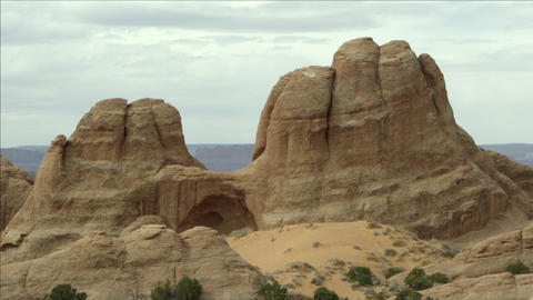 View of the sandstone rock layers Live Action