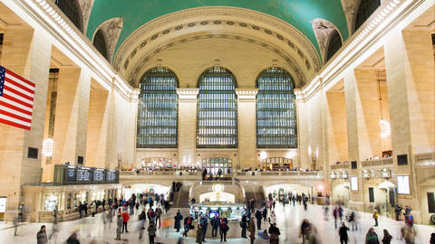 Time lapse of Grand Central Station in New York Footage