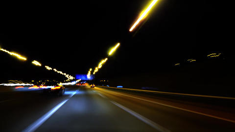 Highway fast lights speed effect Live Action