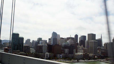 San Francisco view from Oakland Bay Bridge Footage
