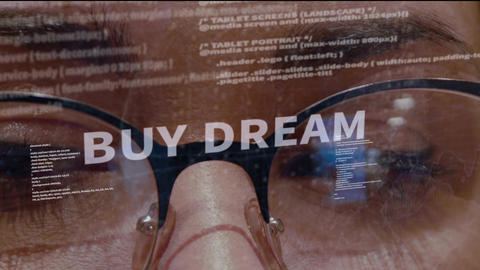 Buy dream text on background of developer Footage