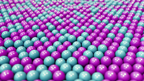 Blue and purple plastic balls, loopable motion background Footage