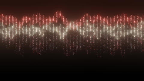 VJ Loop Red Wavy Graph CG動画