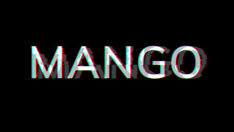 From the Glitch effect arises fruit MANGO. Then the TV turns off. Alpha channel Premultiplied - Animation