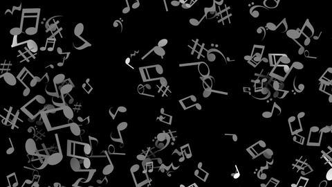 Clay par musical blk wht Animation