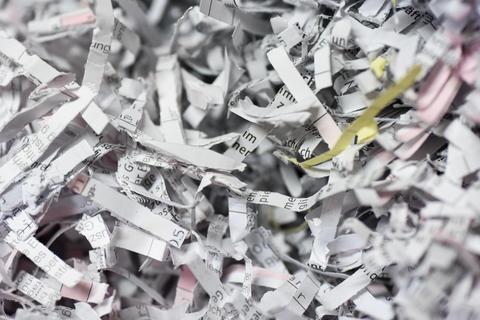 Shredded Paper Background Photo