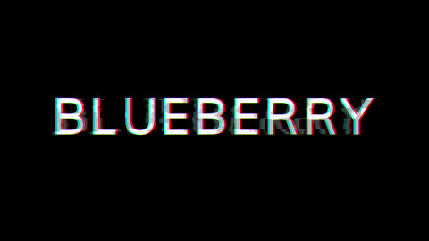 From the Glitch effect arises fruit BLUEBERRY. Then the TV turns off. Alpha channel Premultiplied - Animation