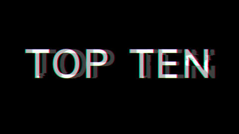 From the Glitch effect arises best TOP TEN. Then the TV turns off. Alpha channel Premultiplied - Animation