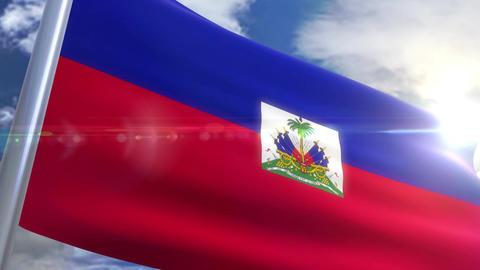 Waving flag of Haiti Animation Animation