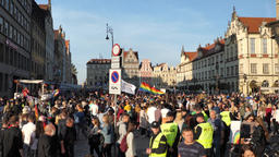 Wroclaw Poland 6.10.2018 The March of Equality. LGBTQ Gay Pride Parade Archivo