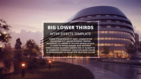 BIG Lower Thirds Motion Graphics Template