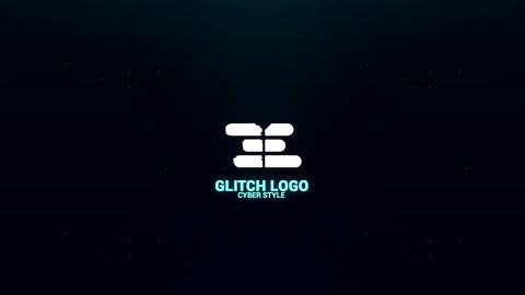 Cyber Glitch Logo 4k After Effectsテンプレート