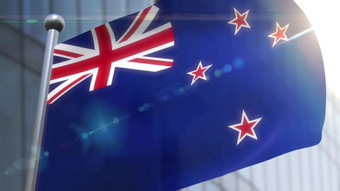 Waving flag of New Zealand Animation Animation
