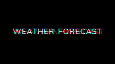 From the Glitch effect arises common expression WEATHER FORECAST. Then the TV turns off. Alpha Animation