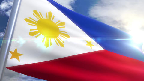 Waving flag of Phillippines Animation Animation