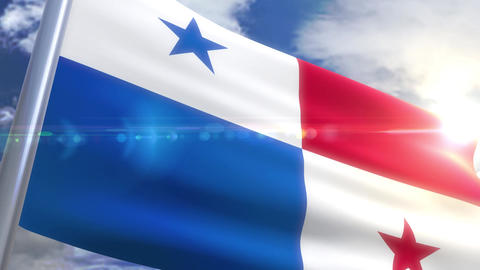 Waving flag of Panama Animation Animation