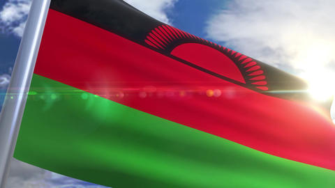 Waving flag of Malawi Animation Animation