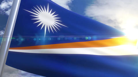 Waving flag of Marshall Islands Animation Animation