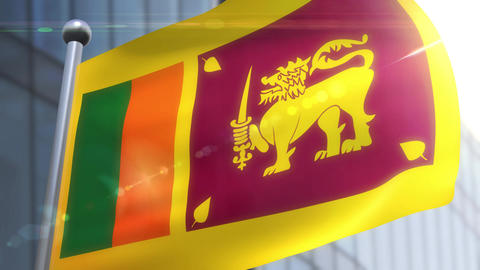 Waving flag of Sri Lanka Animation Animation