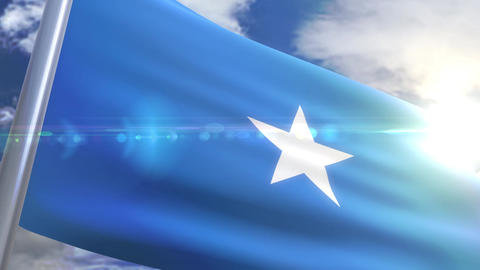Waving flag of Somalia Animation Animation