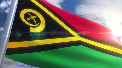 Waving flag of Vanuatu Animation Animation