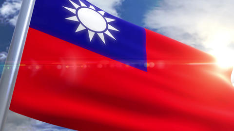 Waving flag of Taiwan Animation Animation