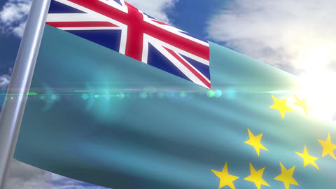 Waving flag of Tuvalu Animation Animation