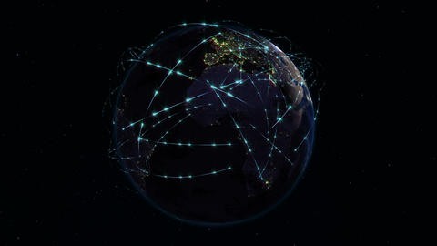 Internet and Global Connection Concept Animation