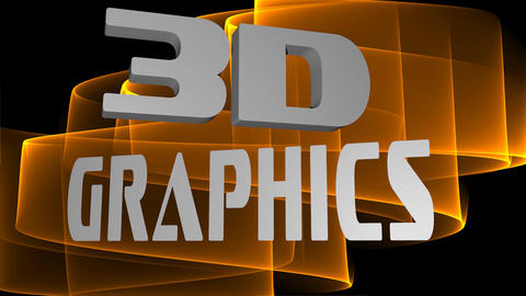 3d graphics advertising inscription, 3d white letters moving on blurry Animation