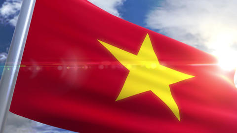 Waving flag of Vietnam Animation Animation