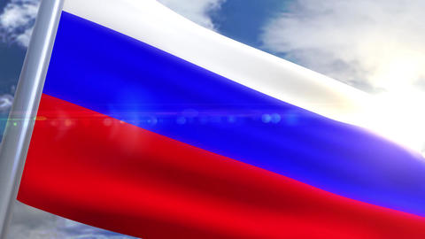 Waving flag of Russia Animation Animation