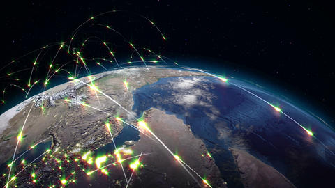 Global Transportation Networks Animation