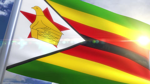Waving flag of Zimbabwe Animation Animation