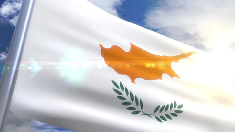 Waving flag of Cyprus Animation Animation