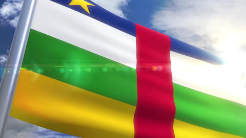 Waving flag of Central African Republic Animation Animation