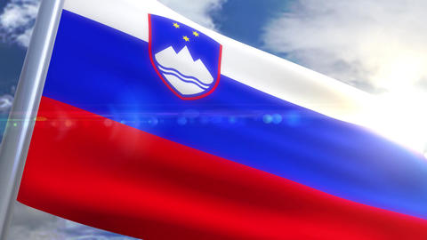 Waving flag of Slovenia Animation Animation