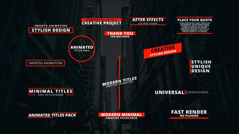 15 modern titles After Effects Template