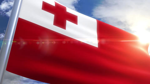 Waving flag of Tonga Animation Animation