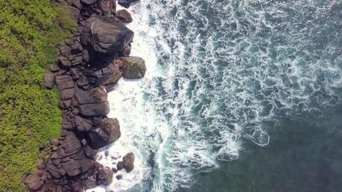 Coconut Tree Hill at Mirissa, Sri Lanka. Wave on top view Footage