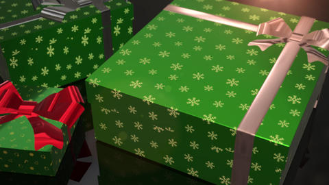 christmas birthday green gift animation Animation