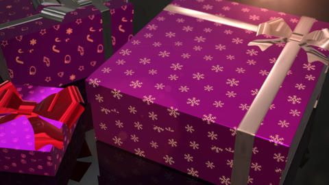 christmas birthday purple gift animation Animation
