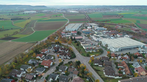 Aerial of Ehningen Germany industrial part Archivo